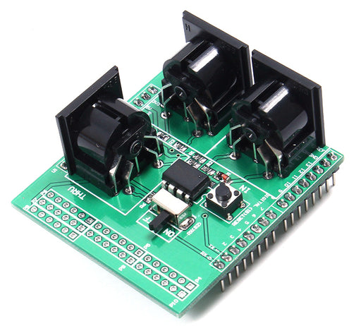 Control audio equipment with Arduino using the MIDI Breakout Shield for Arduino from PMD Way with free delivery, worldwide