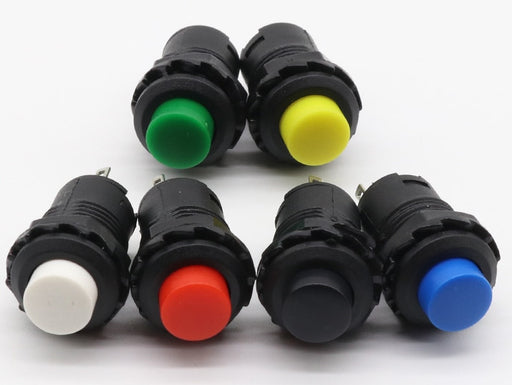 12mm Momentary Pushbutton - Various Colors in packs of ten from PMD Way with free delivery worldwide