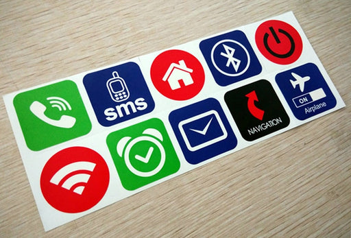 NFC Smart Stickers NTAG213 13.56MHz - Ten Pack from PMD Way with free delivery worldwide