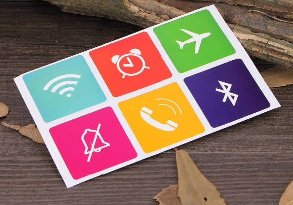 NFC Smart Stickers NTAG216 13.56MHz - Six Pack from PMD Way with free delivery worldwide