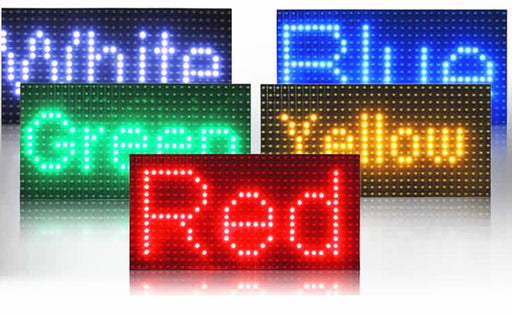 Waterproof P10 LED Matrix Displays in various colors from PMD Way with free delivery worldwide
