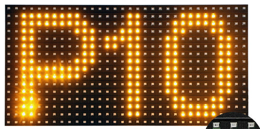 P10 LED Matrix Display - Yellow from PMD Way with free delivery worldwide