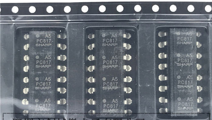 PC817-4 Quad Optocoupler SMD SOP16 in packs of 50 from PMD Way with free delivery worldwide