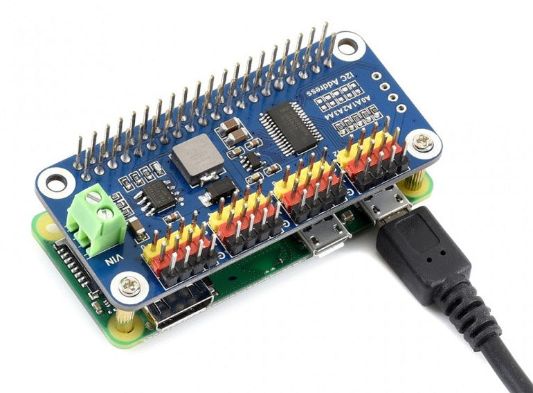 16 Channel 12 Bit PWM Servo Driver pHAT for Raspberry Pi from PMD Way with free delivery worldwide
