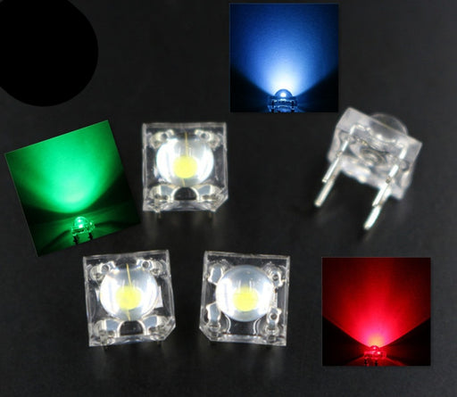 Clear RGB Piranha LEDs - Common Anode - 100 Pack from PMD Way with free delivery worldwide