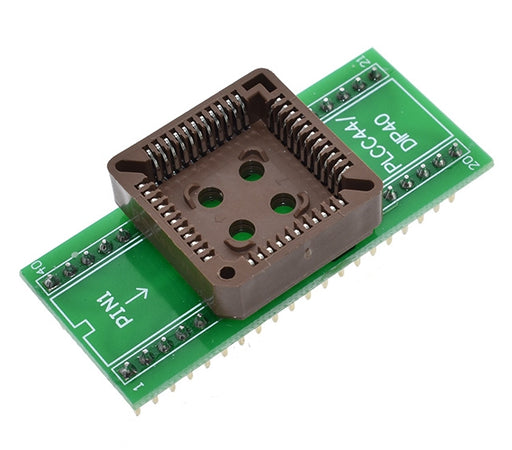 Easily use PLCC44 ICs in solderless breadboards or PCBs with our PLCC44 to DIP40 Adaptor Board from PMD Way with free delivery wordlwide