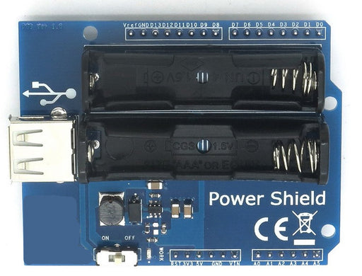 Give your Arduino project independence with the AAA Battery Power Shield for Arduino from PMD Way with free delivery, worldwide