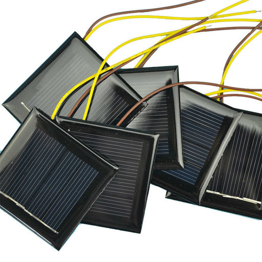 Prewired 2V 130mA Solar Panels in packs of 10 from PMD Way with free delivery worldwide