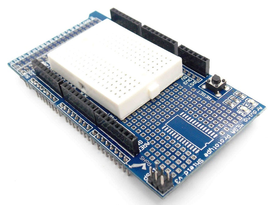 Great value Protoshields with Solderless Breadboard for Arduino Mega in packs of ten from PMD Way with free delivery, worldwide