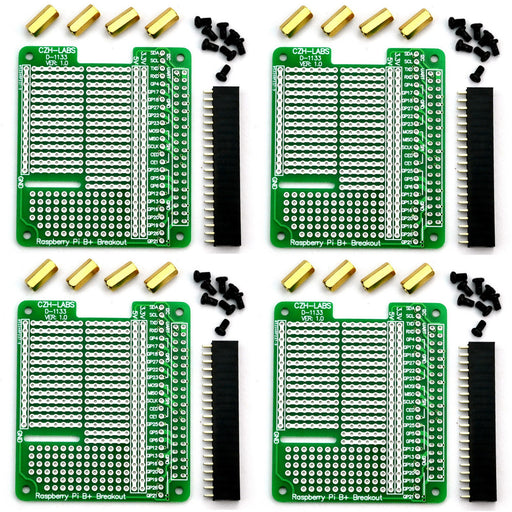 Prototype HAT Kits for Raspberry Pi in packs of four from PMD Way with free delivery worldwide