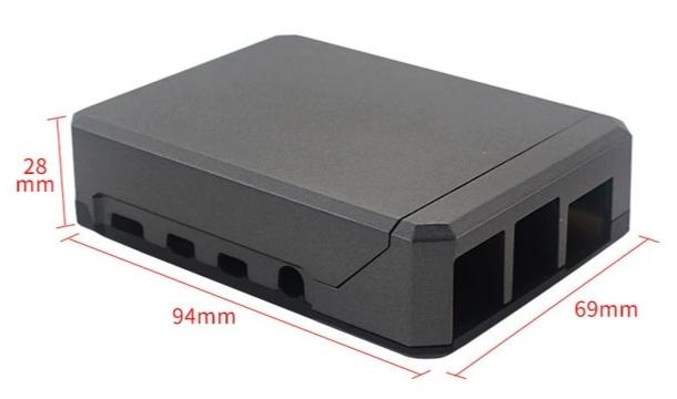 Aluminium Enclosure for Raspberry Pi 4B with Sliding Magnetic Top from PMD Way with free delivery worldwide