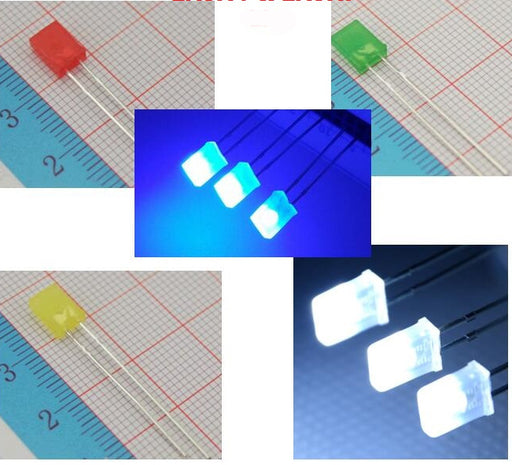 Diffused Rectangular LEDs - 100 Pieces from PMD Way with free delivery worldwide