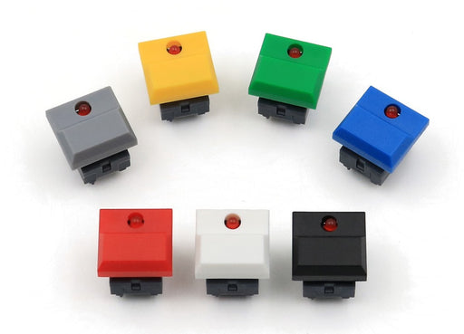 Red LED Large Tactile Buttons in packs of ten from PMD Way with free delivery worldwide