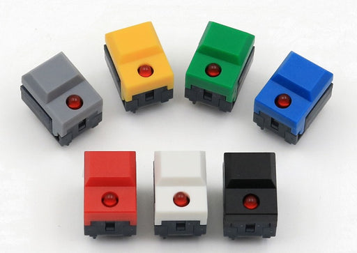 Red LED Small Tactile Buttons in packs of ten from PMD Way with free delivery worldwide