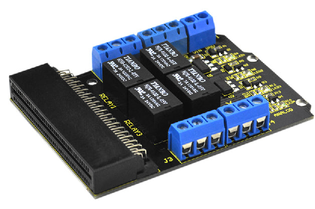 Easily control high voltage and current loads with the Relay Board for BBC micro:bit from PMD Way with free delivery, worldwide