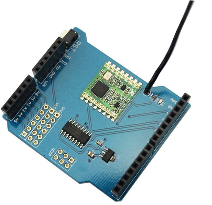 Build short range wireless data networks with RFM69 Packet Radio Shield for Arduino from PMD Way with free delivery, worldwide