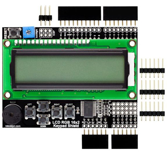 Great value RGB 16x2 Character LCD Shield Kit for Arduino from PMD Way with free delivery, worldwide
