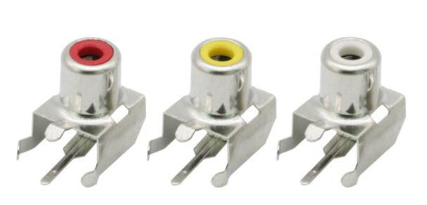 Right Angle PCB Mount RCA Sockets from PMD Way with free delivery worldwide