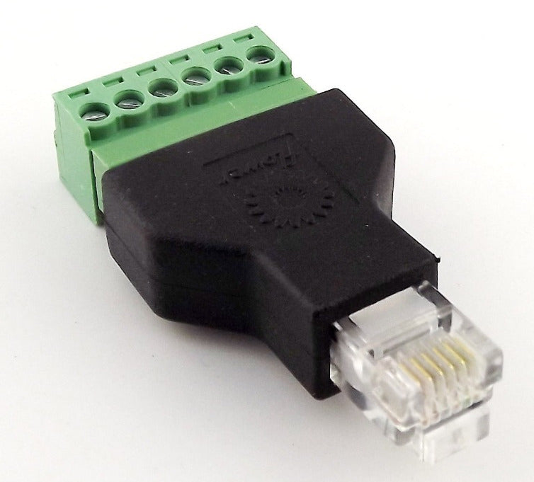 Useful RJ11 RJ12 Male to Terminal Block Adaptor from PMD Way with free delivery worldwide
