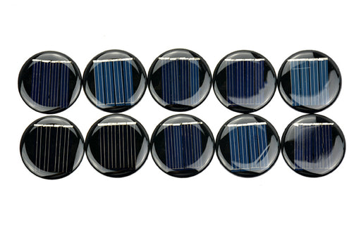 Round 2V solar panels in packs of ten from PMD Way with free delivery worldwide