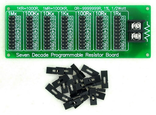 Create your own resistor with the 1R - 9999999R Seven Decade Programmable Resistor Board from PMD Way with free delivery worldwide