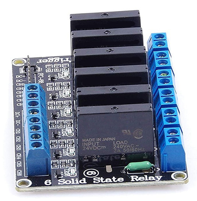 Solid State Relay Modules 2A - Six Channel from PMD Way with free delivery worldwide