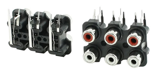 PCB Mount Six RCA Socket Modules - Twin Pack from PMD Way with free delivery worldwide