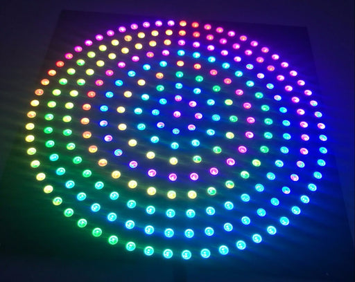 SK6812 RGB LED Ring Set - Black PCB from PMD Way with free delivery worldwide