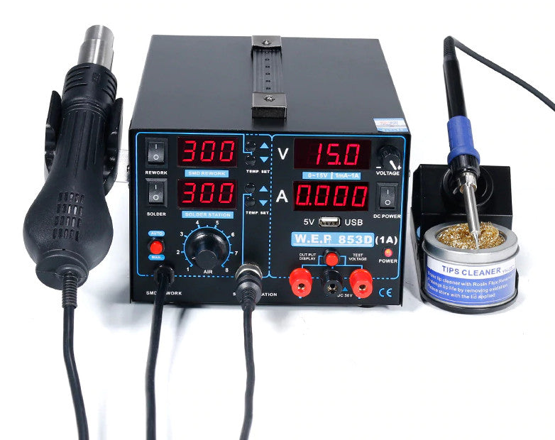 Soldering Station with Reflow Gun and Bench Power Supply from PMD Way with free delivery worldwide