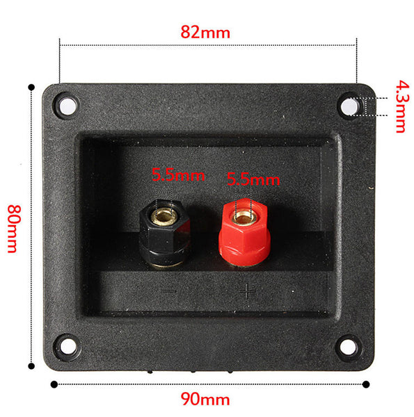 Rectangular Two Way Speaker Terminal Binding Post from PMD Way with free delivery worldwide