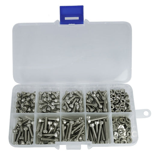 Assorted M2 M2.5 M3 Stainless Steel Hexagonal Bolt Kits - 320 Pieces from PMD Way with free delivery worldwide
