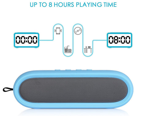 Enjoy quality music and take phone calls with the Stereo Waterproof Bluetooth Speaker from PMD Way with free delivery worldwide
