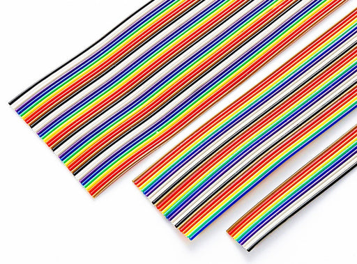 1.27mm Pitch Rainbow Ribbon Cable for IDC Connectors - 1 Metre from PMD Way with free delivery worldwide