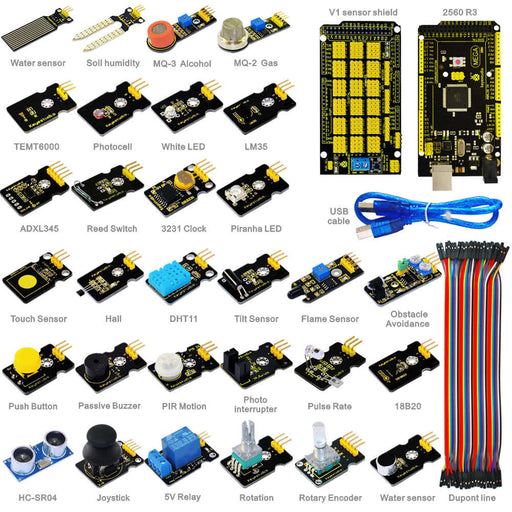 Learn how to use a huge range of sensors and Arduino with the Super Sensor Starter Kit with Arduino Mega 2560 from PMD Way - with free delivery, worldwide