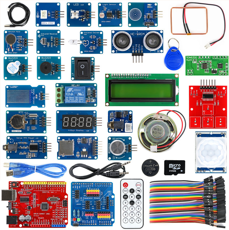 Get up to speed with Arduino and many functions using the Super Smart Starter Kit for Arduino from PMD Way with free delivery, worldwide