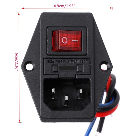 Prewired Switched IEC Mains Socket from PMD Way with free delivery wordlwide