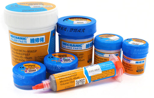Tin Lead Sn63/Pb67 Solder Paste in syringes and jars from PMD Way with free delivery worldwide