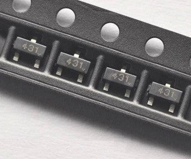 TL431 - Voltage Reference SMD SOT23 ICs in packs of 100 from PMD Way with free delivery worldwide
