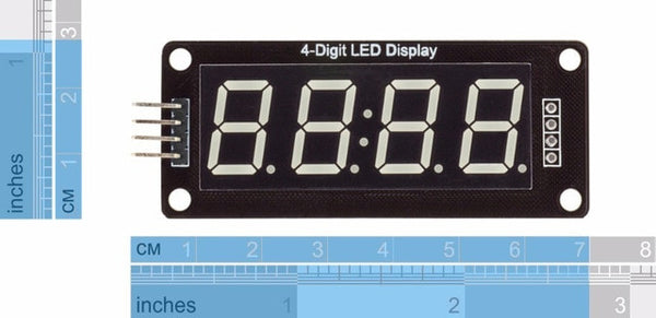 TM1637 Four Digit LED Clock Display Modules from PMD Way with free delivery worldwide