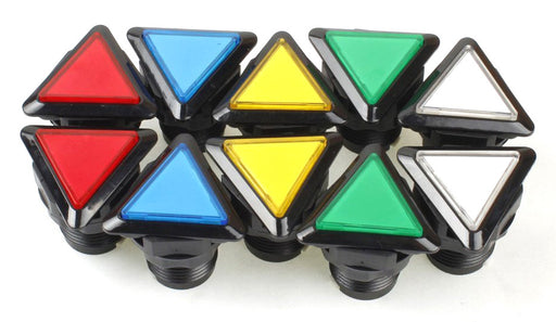 Triangle LED Illuminated Arcade Buttons in packs of ten from PMD Way with free delivery worldwide