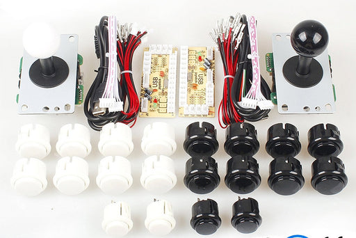 Joystick and Ten Arcade Buttons with USB Encoder Kits for two players from PMD Way with free delivery worldwide