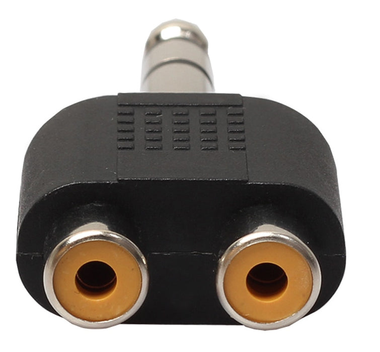 Twin RCA Socket to 6.35mm Jack Plug Adaptor - 5 Pack from PMD Way with free delivery worldwide