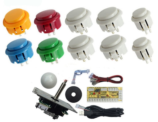 Joystick and Ten Arcade Buttons with USB Encoder Kits from PMD Way with free delivery worldwide