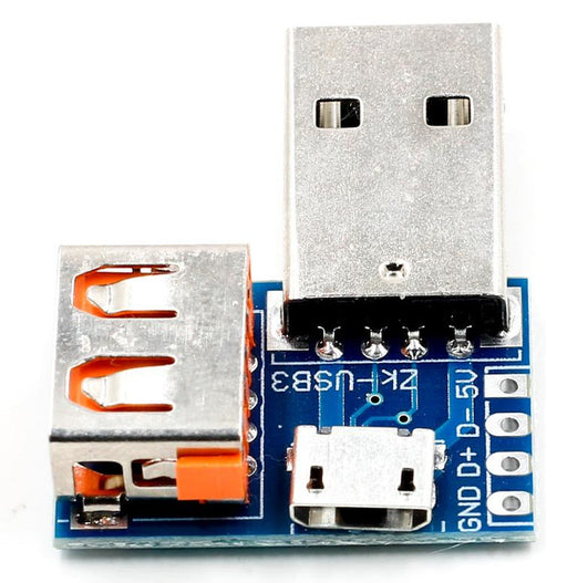 USB Male to USB Female and Micro USB Adaptor Board from PMD Way with free delivery worldwide