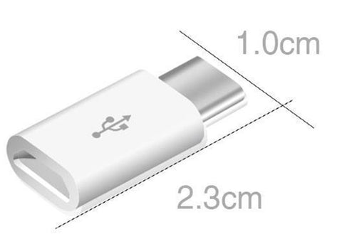 Micro B USB to USB C Adapters from PMD Way with free delivery worldwide