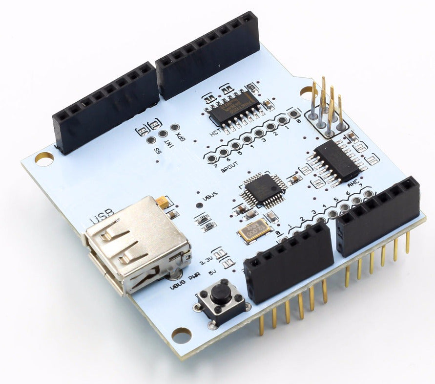 Connect USB devices to your project with the USB Host Shield 2.0 for Arduino from PMD Way with free delivery, worldwide