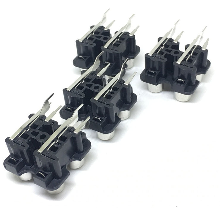 PCB Mount Four RCA Socket Modules - Four Pack from PMD Way with free delivery worldwide
