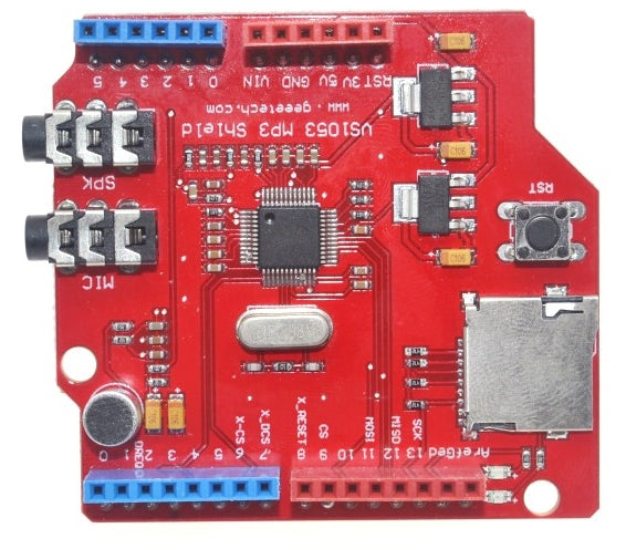 Playback audio files via Arduino with the VS1053 Stereo Audio MP3 Player Shield with TF Card Slot For Arduino from PMD Way with free delivery, worldwide