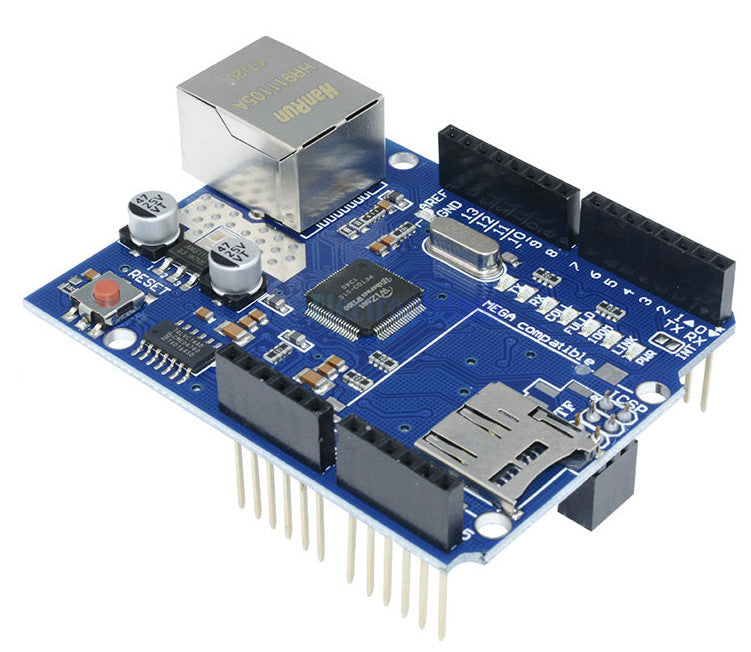 Get your Arduino on a network with the W5100 Ethernet Shield for Arduino from PMD Way with free delivery, worldwide