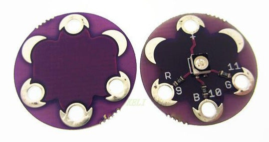 Wearable LilyPad Style Tri-Colour RGB LED Module - 5 Pack from PMD Way with free delivery worldwide
